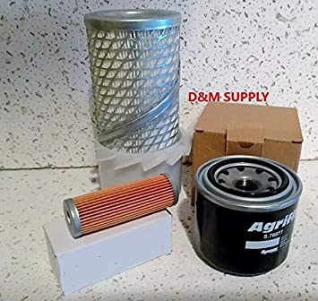 Oil Air Fuel Filters Kubota B7001 Filter Service Kit