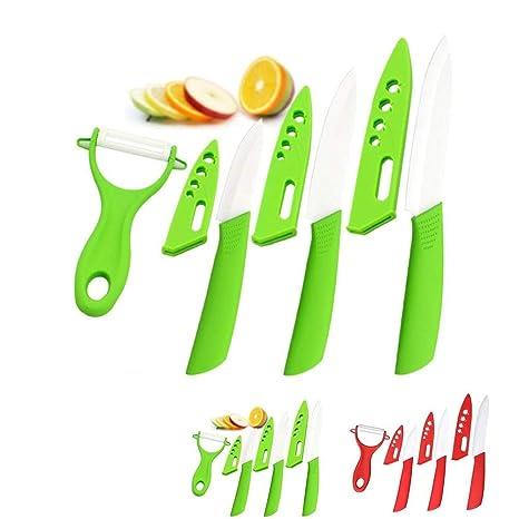 Juego de cuchillos de cerámica de 4 piezas de la marca ...