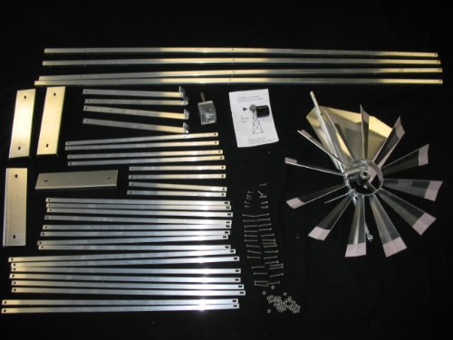 6 Ft Premium Aluminum Decorative Garden Windmill- Green Trim by Wingards
