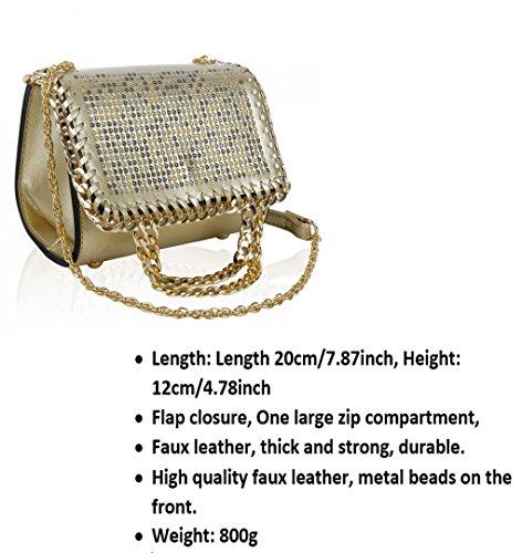 Chaîne Cuir Mariagebridal Sacs 150954 Main Beaded Leahward® Betoulière Simili Sac À Or Femme Mode tZxPwqxIa