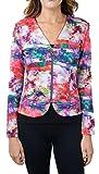 Joseph Ribkoff Multicoloured Pattern Zip V-Neck Coverup Jacket Style 171717 - Size 10