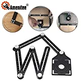 Amenitee Six-Sided Aluminum Alloy Angle Measuring Tool - Universal Angularizer Ruler - Full Metal Multi Angle...