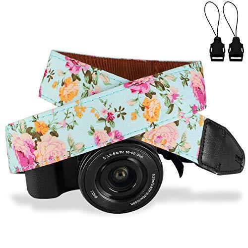Camera Strap,Eggsnow Universal Camera Neck Shoulder Strap for Mirrorless,Polaroid,Digital SLR Camera-Light Blue