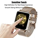 Apple Watch Screen Protector 42mm, iWatch Tempered Glass Screen Protector, Anti-Scratch, Scratch Resistant, 3D Full Screen Coverage for Apple Watch 42mm Series 3/2/1 (1 Pack, Black)