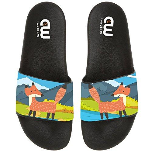 Summer Slipper Outdoor Shoes Fox Beach Girl Boy Women For Men Cartoon Adult Sandal Slide Up5xWqScw