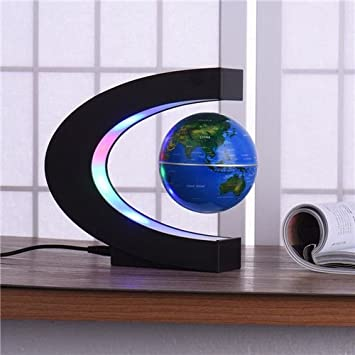 Amazoncom Floating Globe with Colored LED Lights 3 World Map