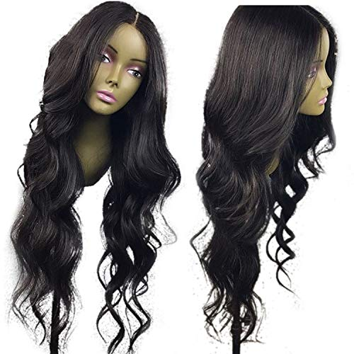 (13x6 Wavy Lace Front Human Hair Wigs For Women Pre Plucked Hairline With Baby Hair Brazilian Non Remy Hair Bleached Knots,Natural Color,12inches,13x6)