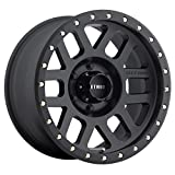 Method Race Wheels Grid Matte Black Wheel with Zinc Plated Accent Bolts (17x8.5