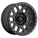 Method Race Wheels Grid Matte Black Wheel with Zinc Plated Accent Bolts (18x9'/5x150mm, 0mm offset) 0 mm offset