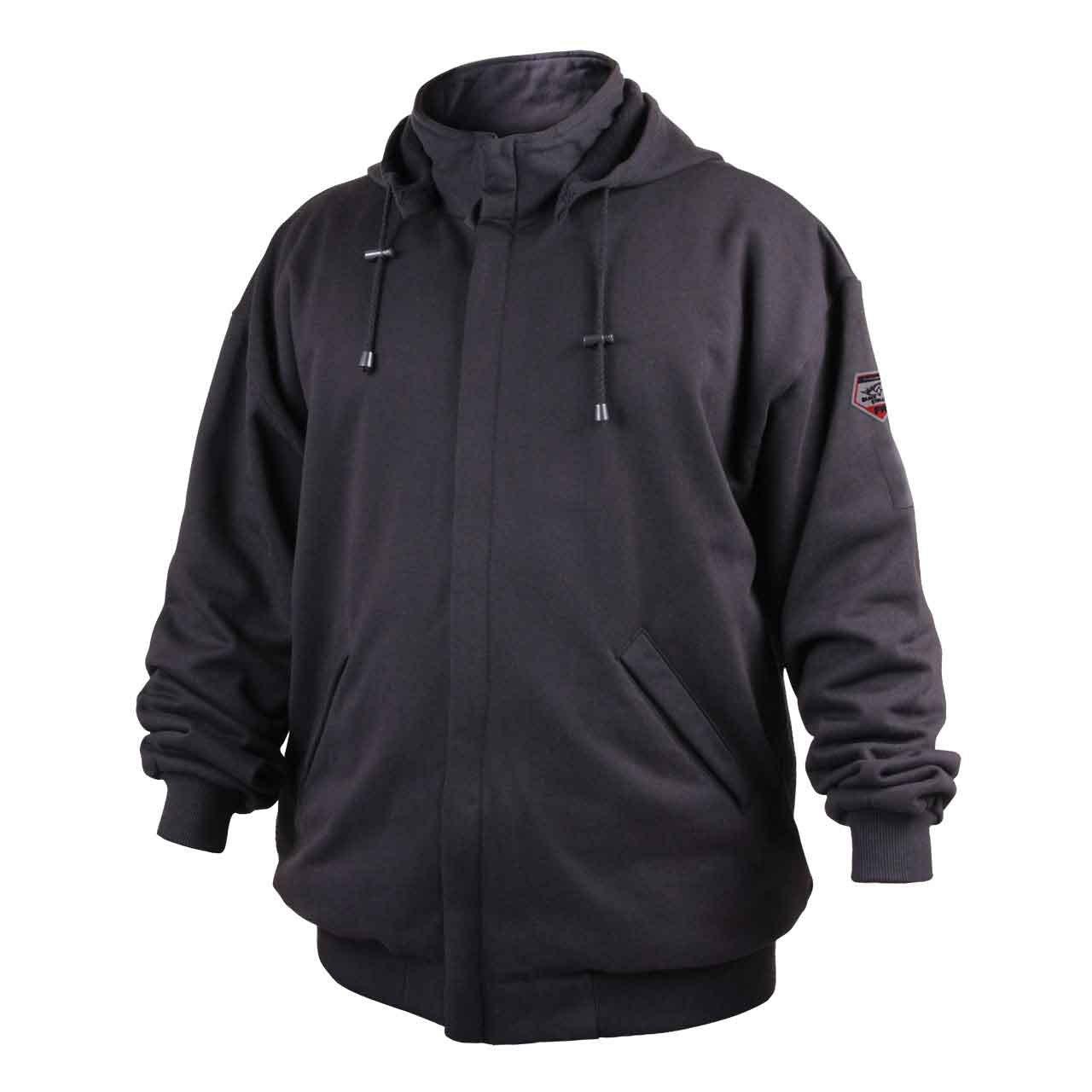 Revco/Black Stallion Truguard™ 200 Fr Cotton Black Hooded Sweatshirt Size-Med by Black Stallion