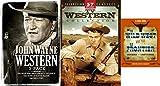Wild West & Old Frontier Bundle - John Wayne Western 3-Pack (Man Who Shot Liberty Valance / Sons of Katie Elder / The Shootist) & 57 TV Westerns + Wild West Quiz and Trivia Card Set