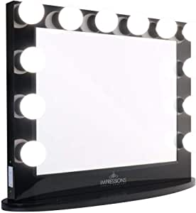 Impressions Vanity Hollywood Iconic XL Plus Black Vanity Mirror