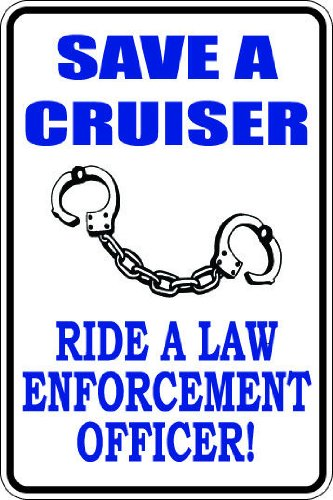 "Beach Graphic Pros 10""x14"" Aluminum save cruiser ride law..."