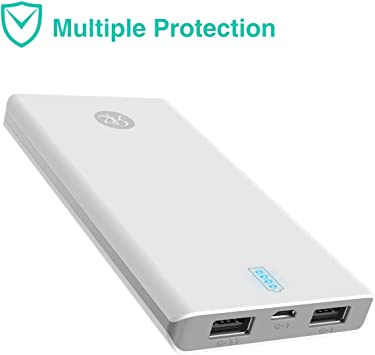 10000 mAh Power Pack Portátil Ultral Slim Dual USB Externo batería ...