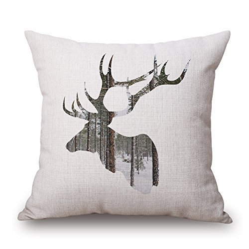 Beautifulseason Deer Throw Pillow Case 18 X 18 Inches / (Cottage Rose Quilt Shop)
