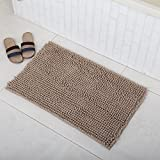"""Chenille Noodle Mat Blue 19.6""""X31.5"""", Soft Microfiber Shaggy Rugs For Bathroom, Toilet, Shower Room, Bathtub, Super Absorbent, Non slip, Fast Drying, Prevent Mud Dirt. Machine Washable. Line"""