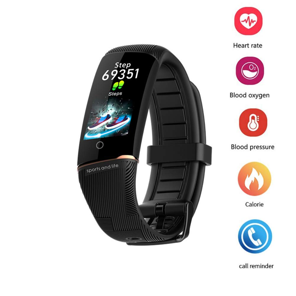Fitness Tracker for Men Women With Heart Rate Monitors, Pedometers for Walking, Activity Trackers With Calorie Counter, Sleep Monitor, IP67 Waterproof Smart Bracelet for Android IOS 2019 Version