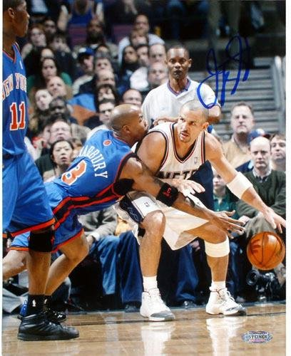 5daa2bafaa75 Image Unavailable. Image not available for. Color  Jason Kidd Nets vs  Marbury Single Signed by Kidd 8x10 Photgraph