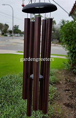 LARGE 50'' WIND CHIME LARGE WIND CHIME BROWN by Gardengreetersllc