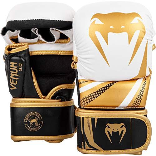 (Venum Challenger 3.0 Sparring Gloves - White/Black/Gold -)