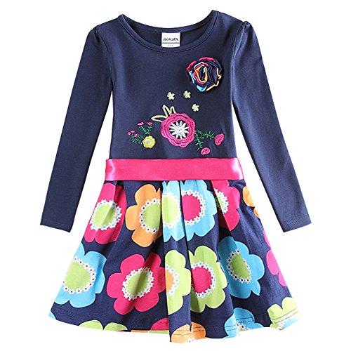 Novatx Baby Girls Cotton Long Sleeves Winter Dress (5/6y)