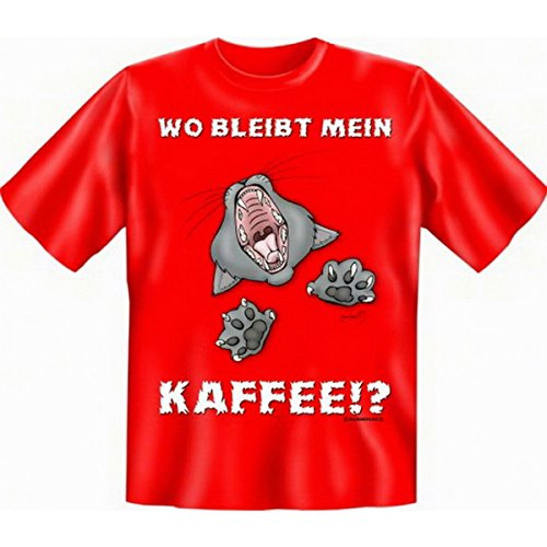 Fun T-shirt Wo bleibt mein Kaffee!? Fb rot