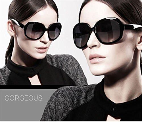 Grande Lot Soleil Femme Grand Design Cadre Noir Pour Lunettes Surdimensionné Mode Ardisle Rétro De Vintage dTqdE