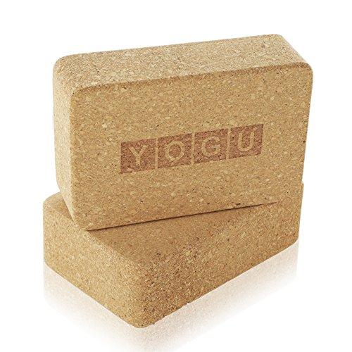 "Yoga Blocks, Set of 2 By Yogu (Cork, 9""x6""x4"")"