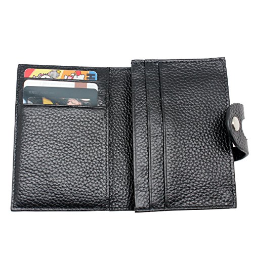 Gucci Business Card Holder (Boshiho RFID Blocking Secure Leather Business Card Organizer ID Credit Card Holder Wallet with Hasp Prevent Electronic Pick Pocketing)