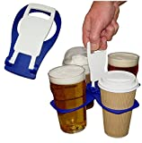 CarryAround Fold Away Cup/Coffee / Pint/Soft Drink/Beer Carrier Holder - Sturdy Reusable Pocket Size - Festival Essential - Easy and safe for hot drinks - Perfect for sports fans (Random Color)