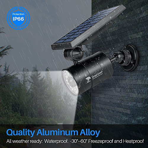 Solar Motion Sensor Light Outdoor of 2, 1400-Lumen 9-Watt(110W Equi.) LED Spotlight,Solar Flood Security Lights for Driveway Patio, 2-Year Battery Life, 160-Week 100% Free Replacement Guarantee