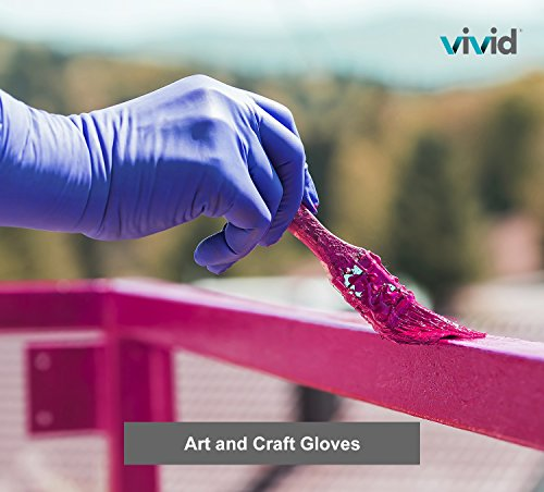 VIVID StyleTouch Purple Nitrile Latex Non Sterile Gloves – for Home, Medical, Professional Use – Disposable – Food Safe, Rubber Free – 2.7 mil, Pack of 300 (Large), StyleTouch by Vivid (Image #6)