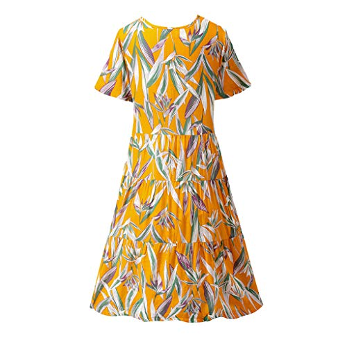 Matasleno Women's Dress Spaghetti Strap Sleeveless Ruffle Hem Casual Short Cotton Dresses Yellow (Capilene 2 Cap)