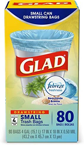 Glad OdorShield Small Drawstring Trash product image