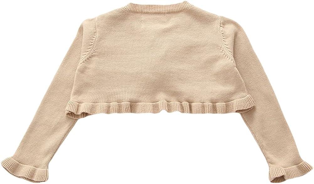 TAIYCYXGAN Baby Little Girls Long Sleeve Knit Cardigan