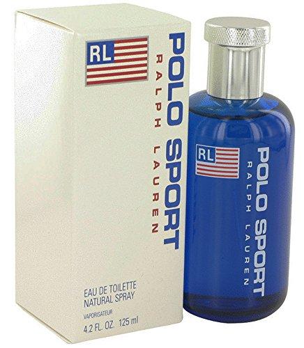 Ralph Lauren Pòlò Blue Sport Eau De Toilette Spray, for Man EDT 4.2 fl oz, 125 ml ()