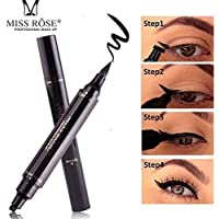 HANNEA Miss Rose Dual Eyeliner Pen And Winged Stamp, Black.
