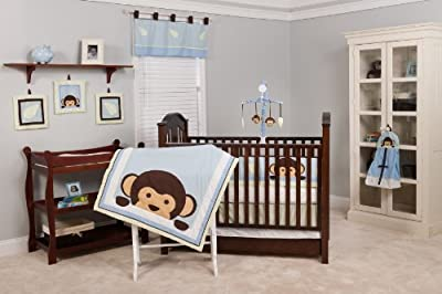 Pam Grace Creations 10 Crib Piece Bedding Set Maddox Monkey by Pam Grace Creations