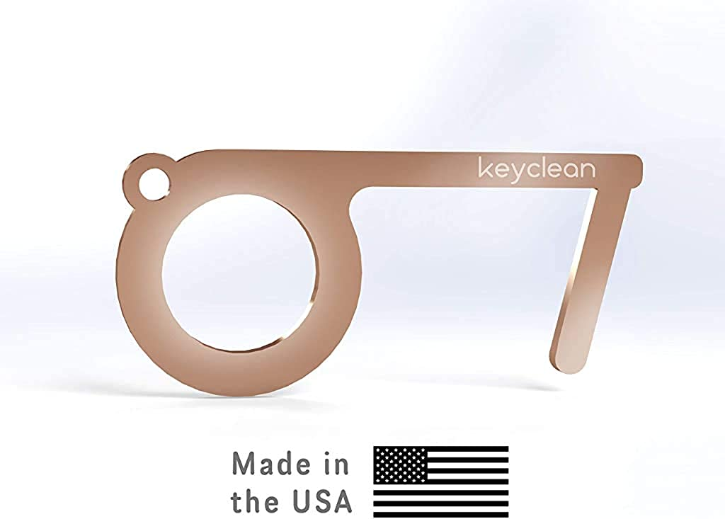 Keyclean Copper Hands Free Door Opener Tool No Touch Avoid Germs Made in The USA Button Pusher /& Stylus Key