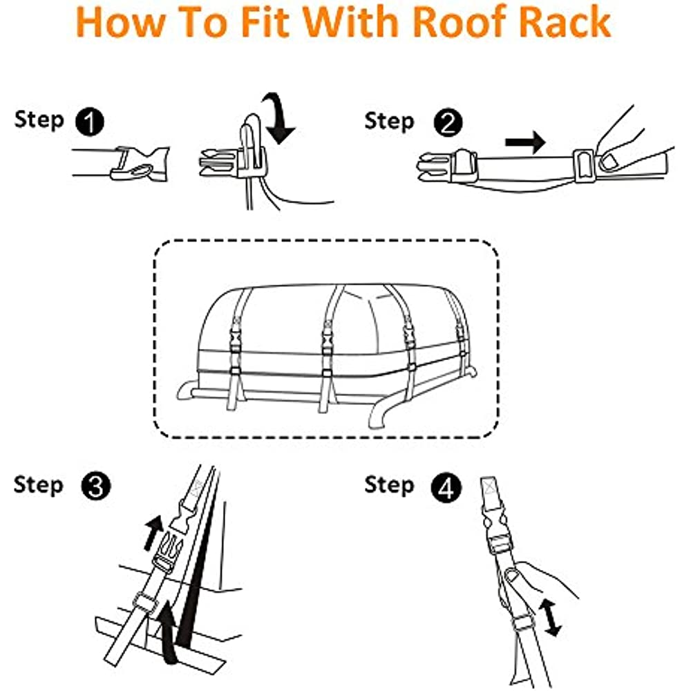 e03e4f29e84f Details about BOLTLINK SoftShell Carriers Rooftop Cargo Bag, Waterproof  Heavy-Duty Wide Straps