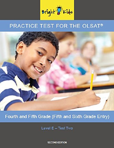 OLSAT Practice Test (5th and 6th Grade Entry)- Level E