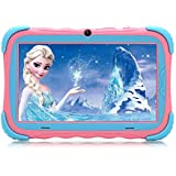 【Upgraded】 iRULU 7 inch Android 7.1 Kids Tablet IPS HD Screen 1GB/16GB Babypad Edition PC with WiFi and Camera and Games Google Play Store Bluetooth Kids-Proof Case GMS Certified with Charger