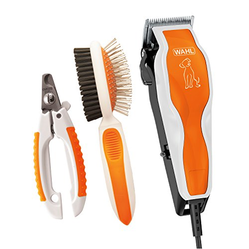 WAHL Groom Pro Pet Clipper Kit with Nail Clipper & Double Sided Pin Bristle Brush - by The Brand Used by Professionals - Model 9308-100