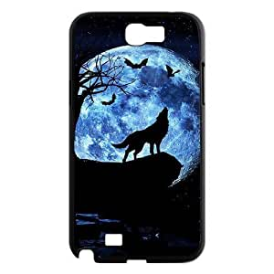DIY Phone Case for Samsung Galaxy Note 2 N7100, Wolf and Moon Cover Case - HL-R663964 hjbrhga1544