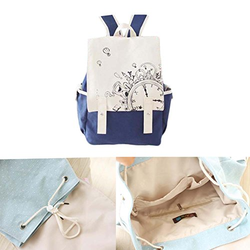 Fashion Student Bag Casual Canvas Rucksack Kleine Fresh Travel Rucksack_A19