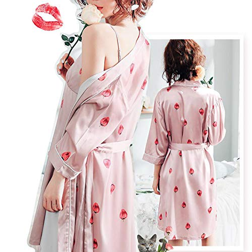 Silk Di Notte Camicia Da Da Pezzi In Summer In Da Notte Seta Pigiama Seta Carina Pink Due Sexy In Da Camicia Donna Notte Camicia wvx6CWq0