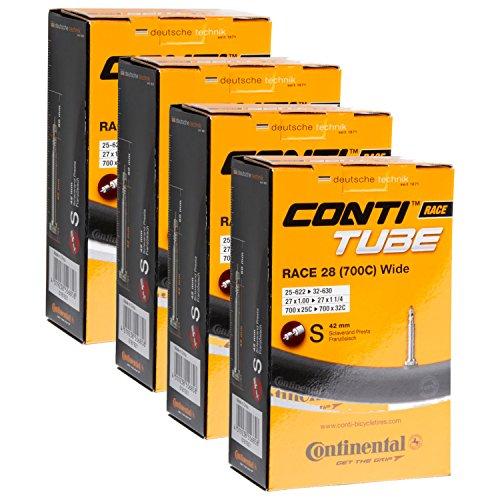 Continental Tubes 700x25-32 presta valve 42mm, Pack of 4