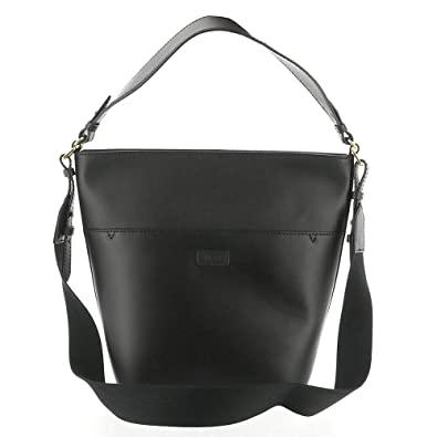 abe57be2782 Amazon.com: UGG Women's Libby Bucket Tote Leather Black One Size: Shoes