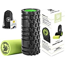 Fledo 2-in-1 Foam Roller. Trigger Point massage for Painful, Tight muscles + Smooth Rollers for Rehabilitation! FREE USER E-BOOK + FREE CARRY CASE!
