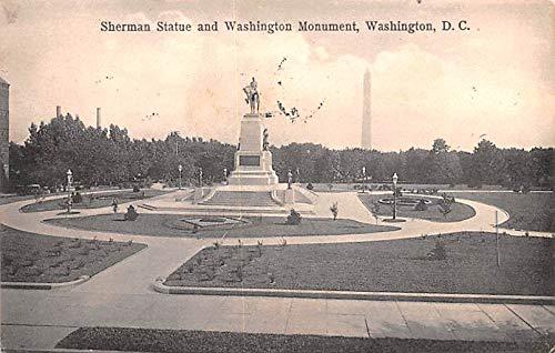- Civil War Post Card Old Vintage Antique Postcard Sherman Statue and Washington Monument, Washington DC 1909